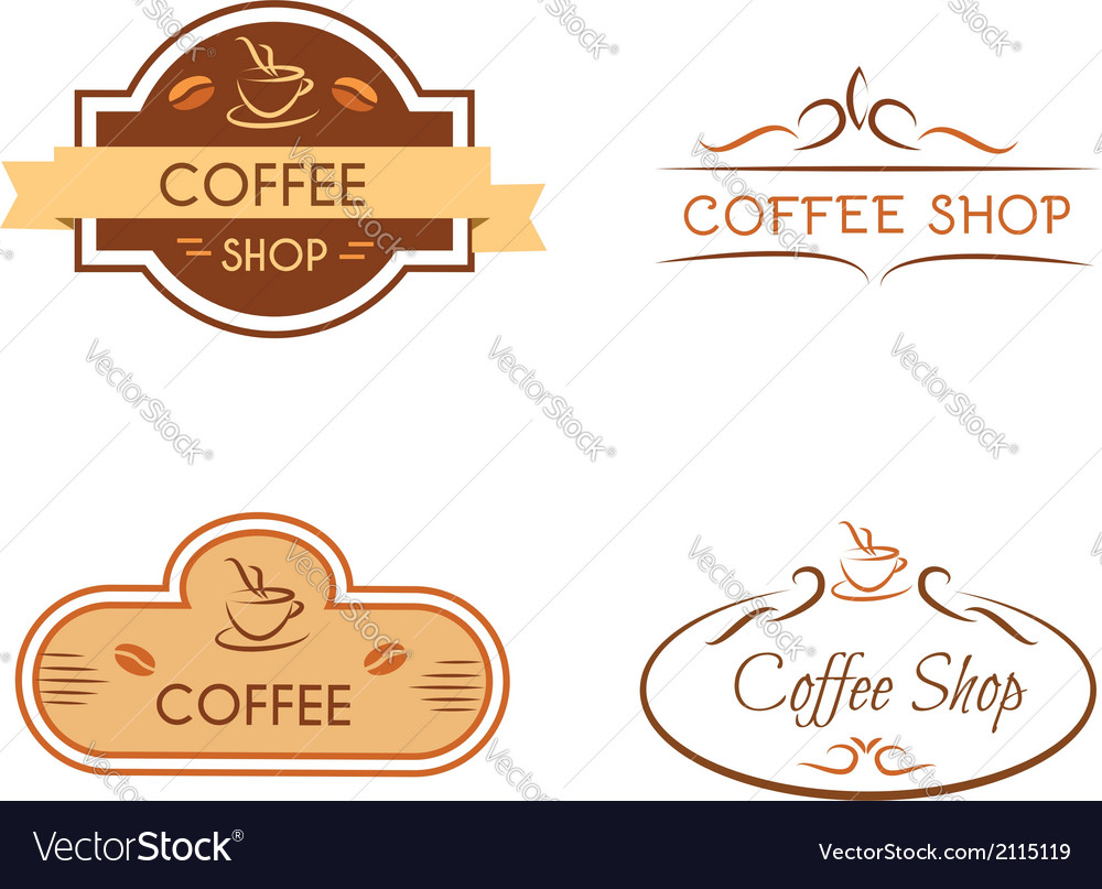 Set of coffee shop badges vector | Price: 1 Credit (USD $1)