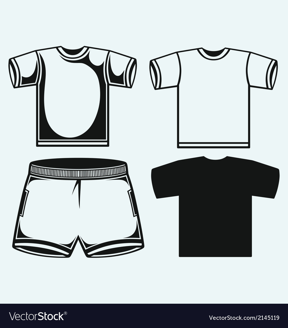 Swimming trunks and t-shirt vector | Price: 1 Credit (USD $1)
