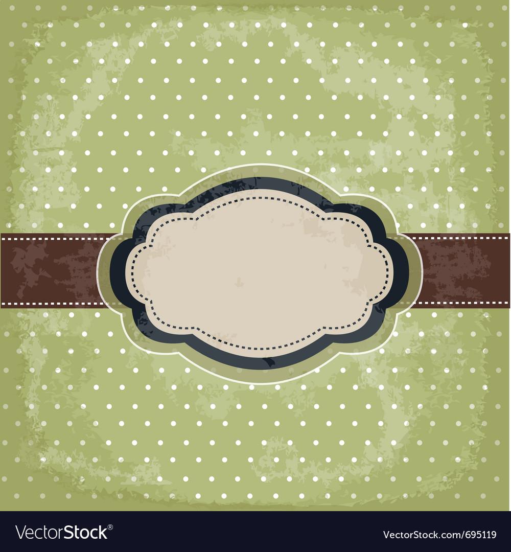 Vintage polka dot design vector   Price: 1 Credit (USD $1)