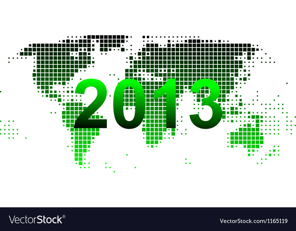 World map 2013 vector | Price: 1 Credit (USD $1)