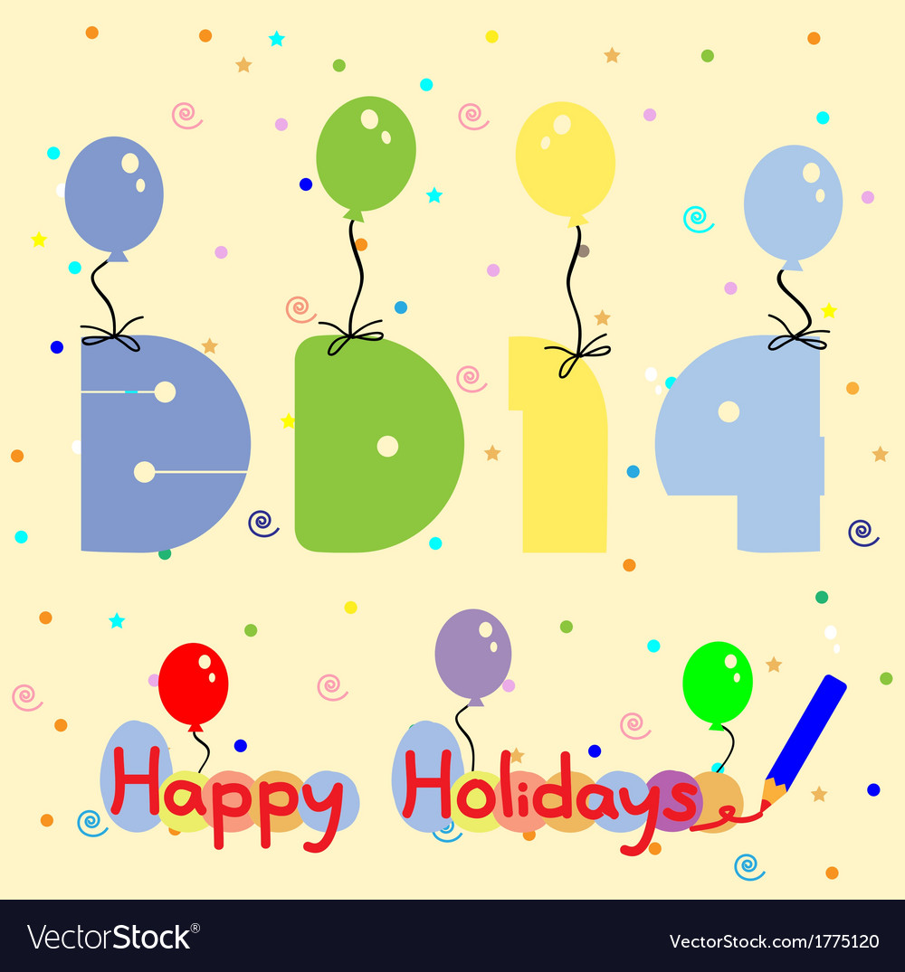 2014 and balloon vector   Price: 1 Credit (USD $1)