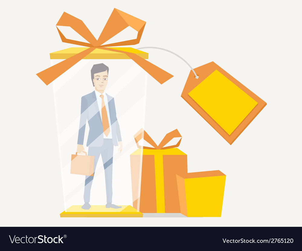 A portrait of a man in a jacket lawyer wi vector | Price: 1 Credit (USD $1)