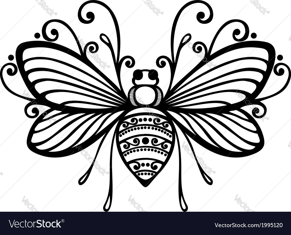 Beautiful bee exotic insect vector | Price: 1 Credit (USD $1)