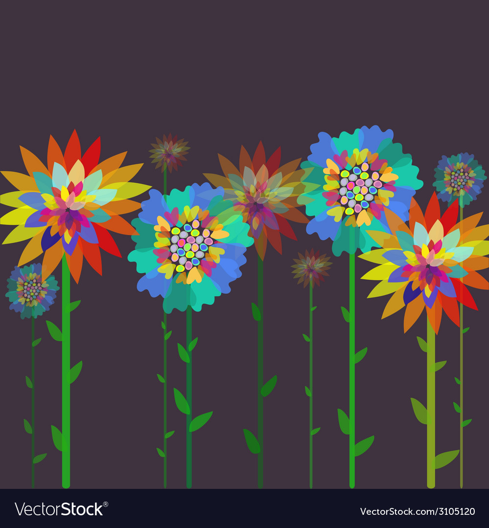 Flowers on a background vector | Price: 1 Credit (USD $1)