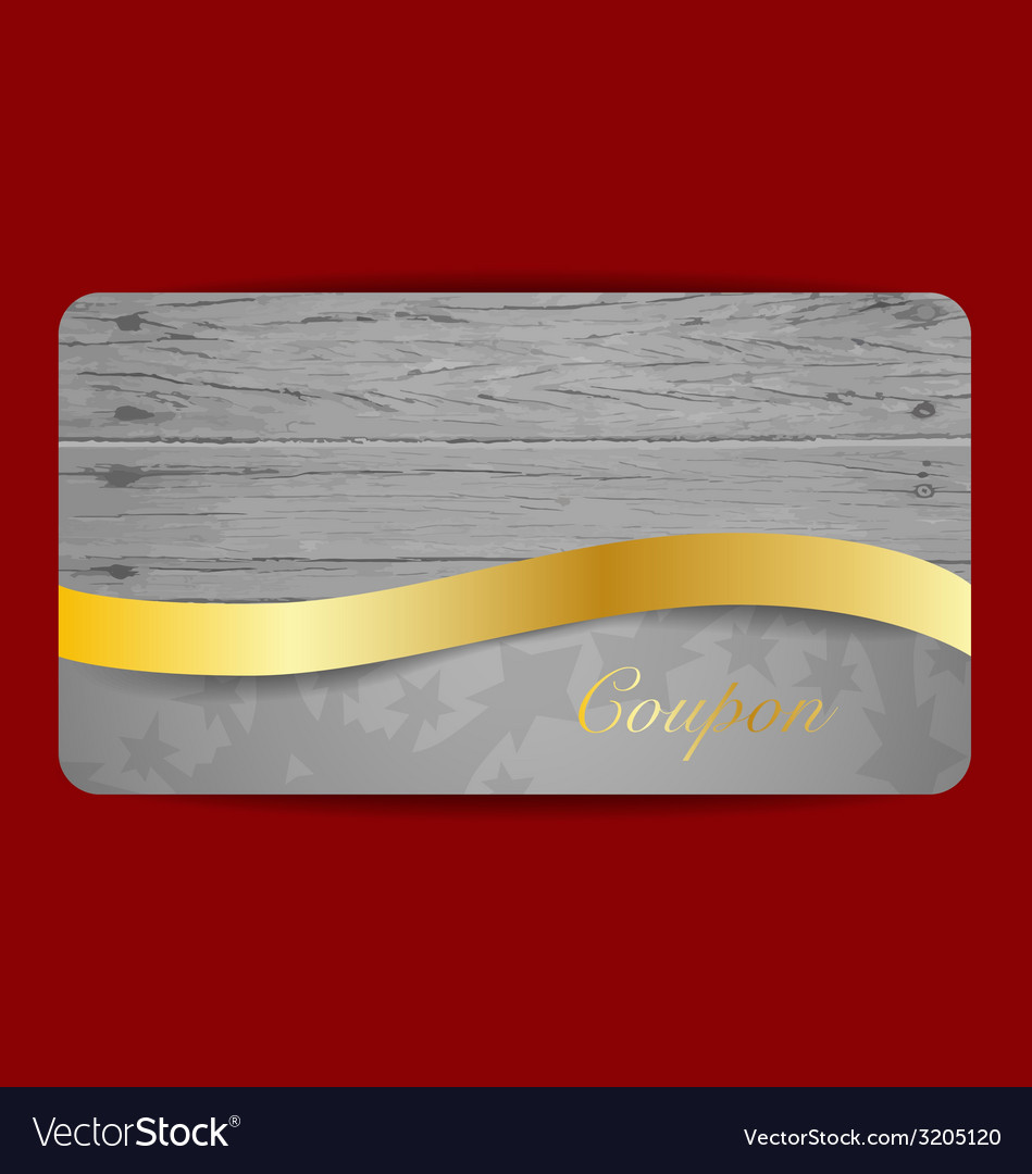 Gift coupon with gold ribbon vector | Price: 1 Credit (USD $1)