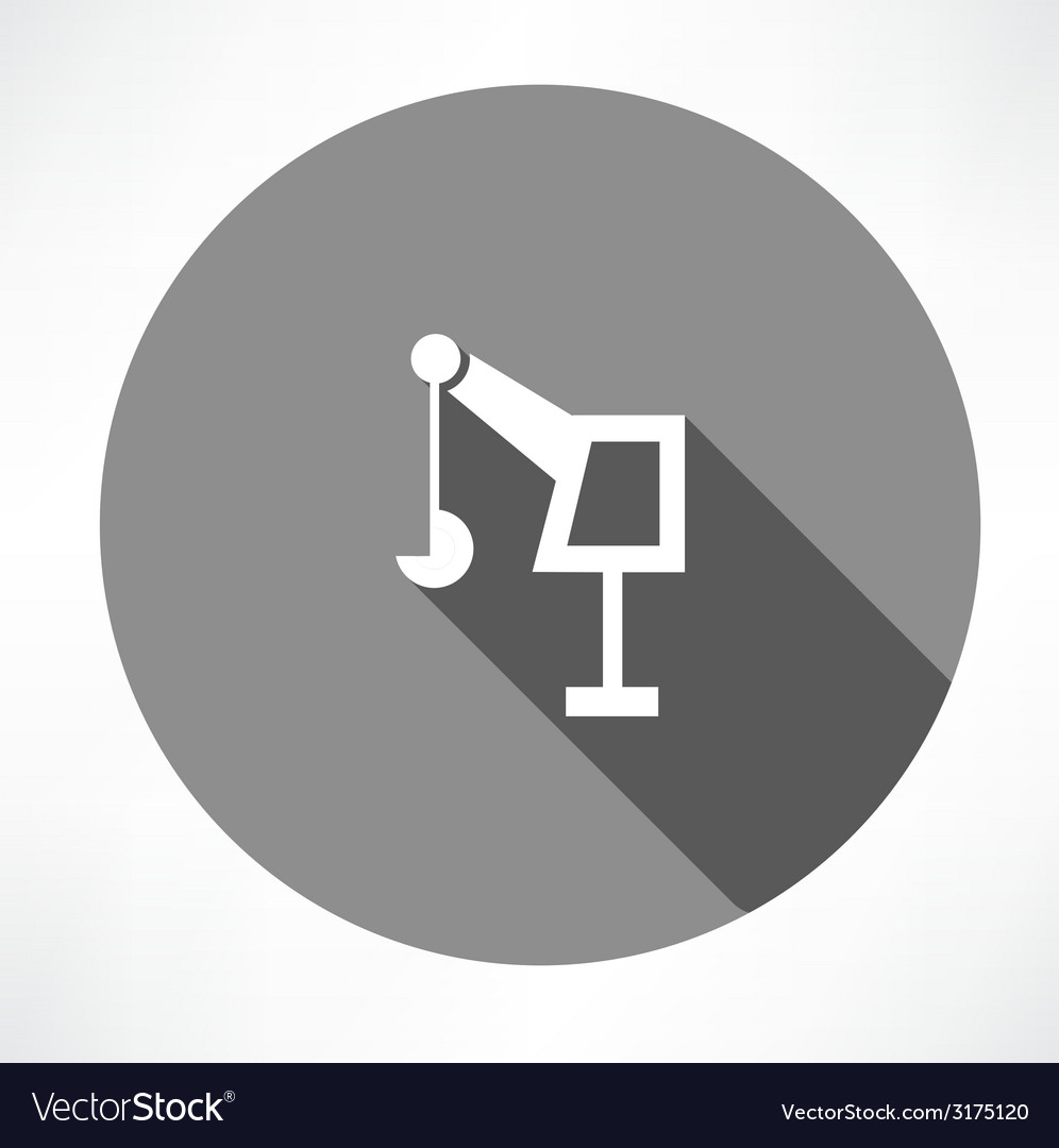 Hoisting crane icon vector | Price: 1 Credit (USD $1)
