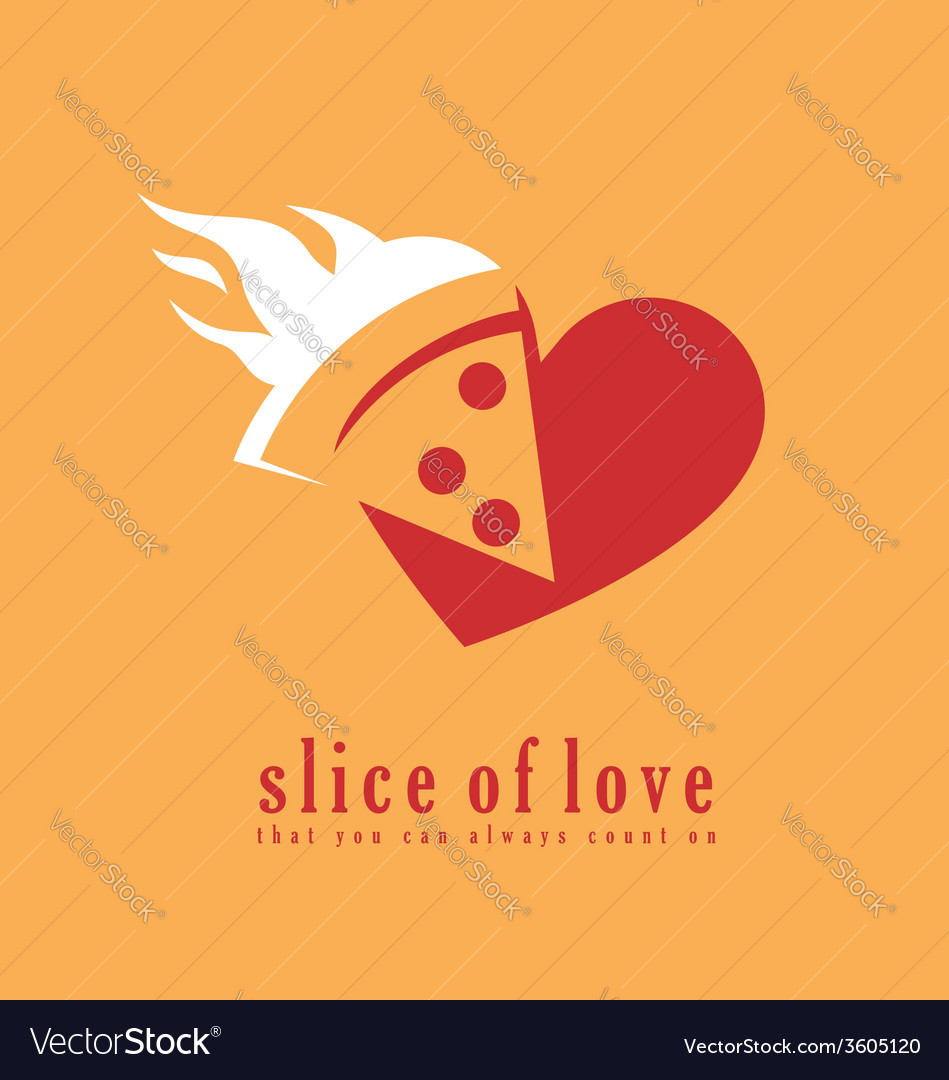 Pizza logo design template vector