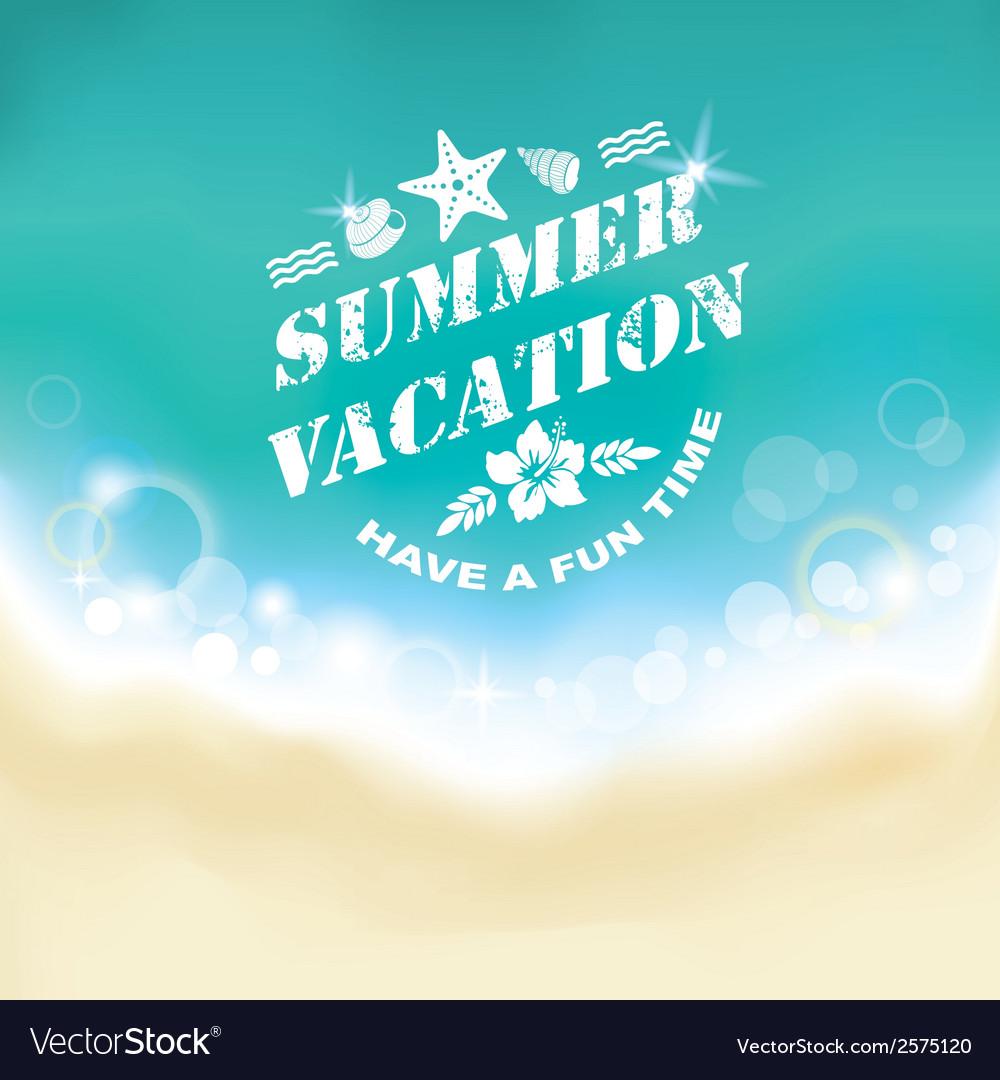 Summer marine background vector | Price: 1 Credit (USD $1)