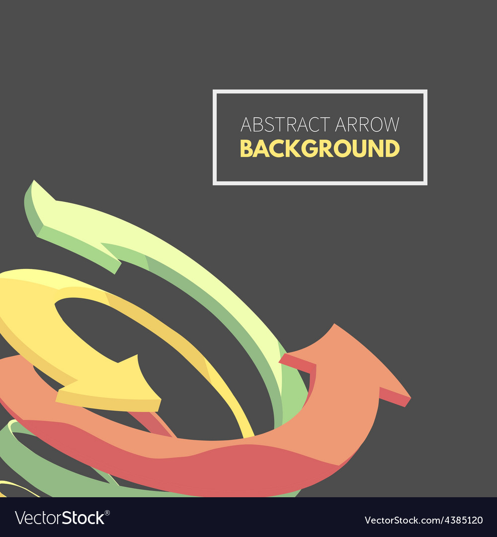Twisted spiral of colorful arrows vector | Price: 1 Credit (USD $1)