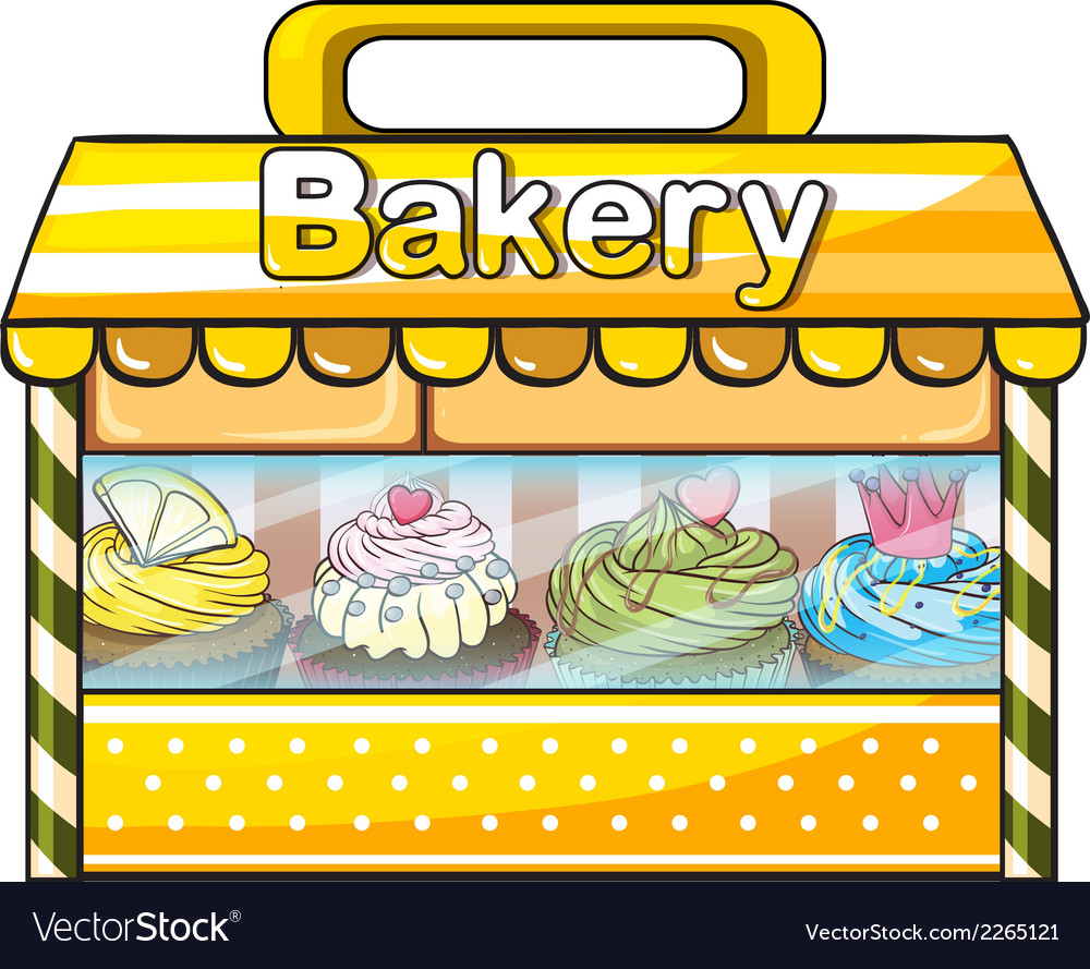 A bakery stall vector | Price: 1 Credit (USD $1)