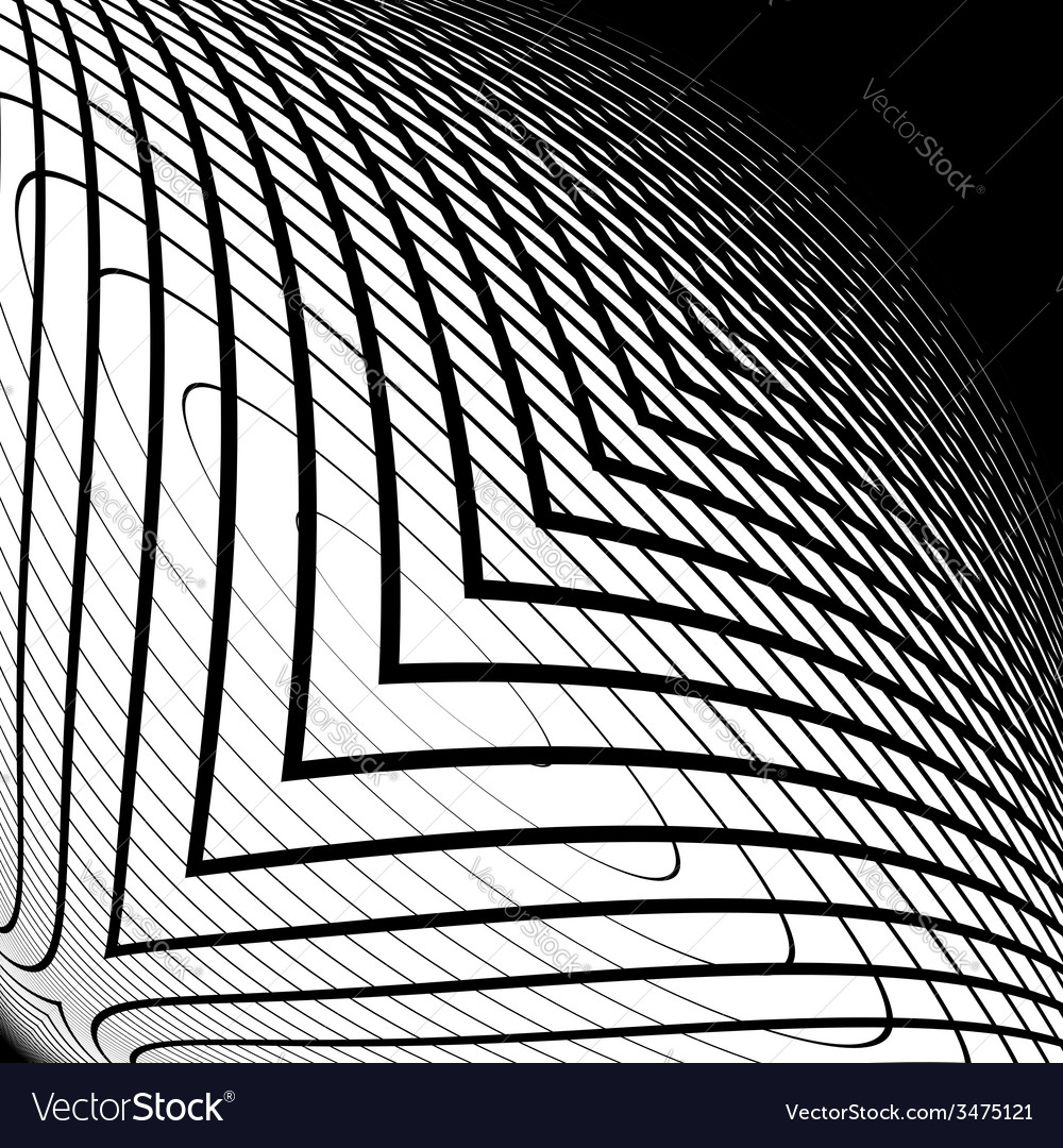 Design monochrome warped grid backdrop vector | Price: 1 Credit (USD $1)