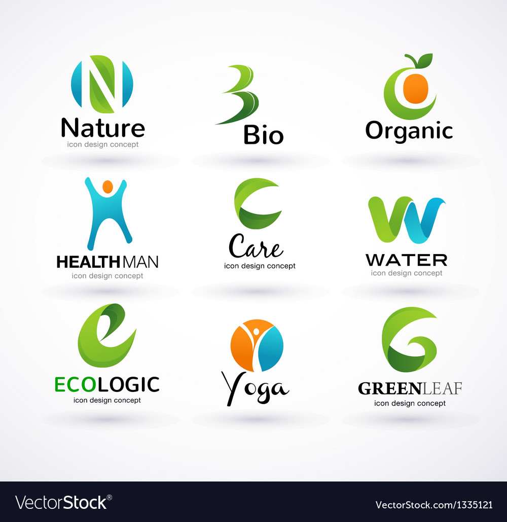 Green ecology alphabet vector | Price: 3 Credit (USD $3)