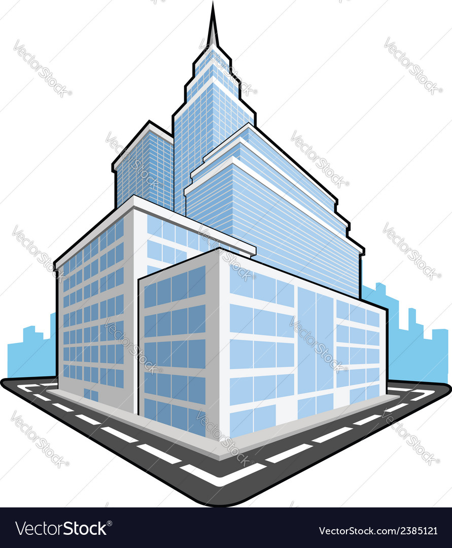 Office building vector | Price: 1 Credit (USD $1)