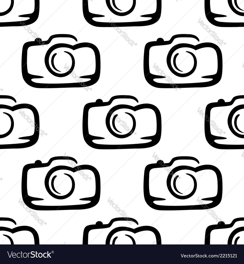 Seamless pattern of a compact camera vector | Price: 1 Credit (USD $1)