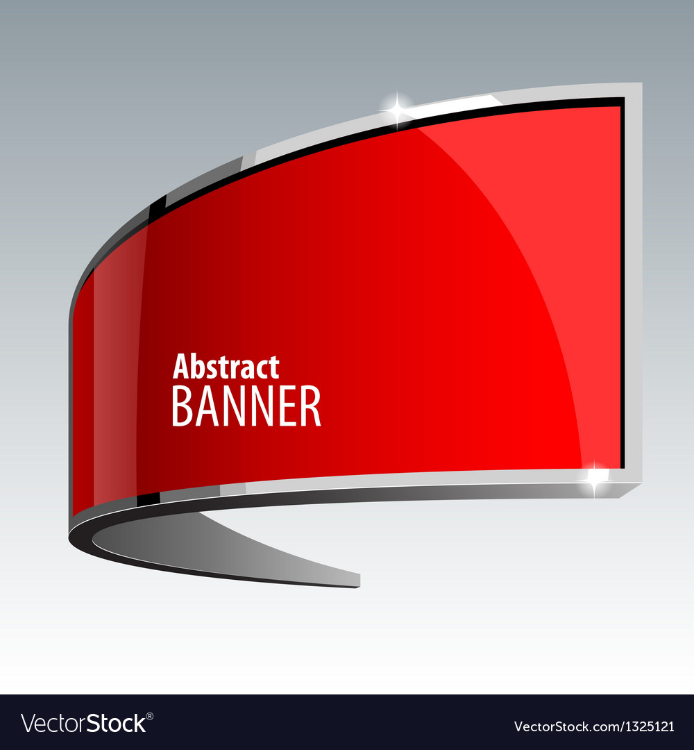 Shiny gloss red banner vector | Price: 1 Credit (USD $1)