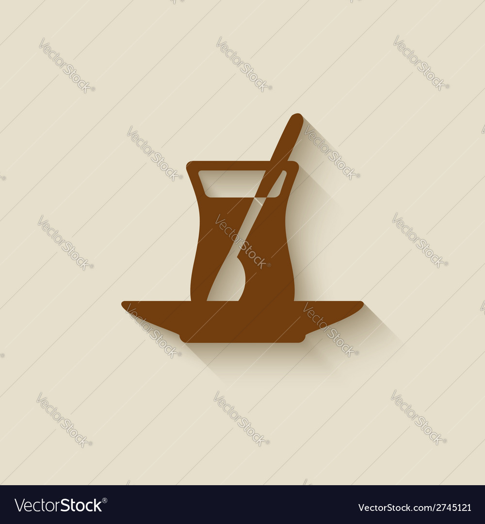 Turkish tea design element vector | Price: 1 Credit (USD $1)