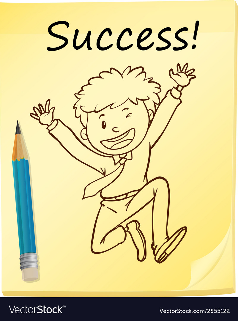 A simple sketch of a successful man vector | Price: 1 Credit (USD $1)