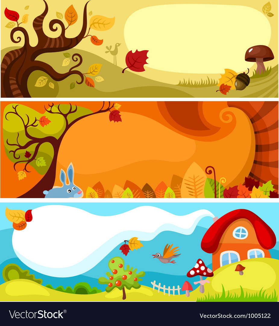 Autumn card set vector | Price: 3 Credit (USD $3)