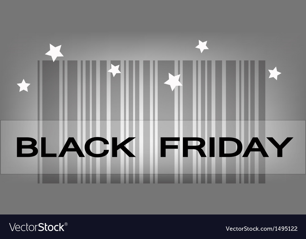 Back friday barcode for special price products vector | Price: 1 Credit (USD $1)