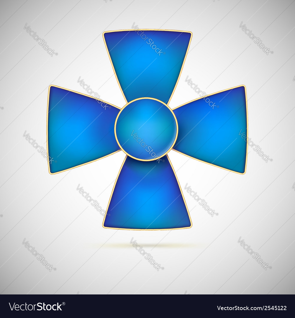Blue cross of a military medal vector | Price: 1 Credit (USD $1)