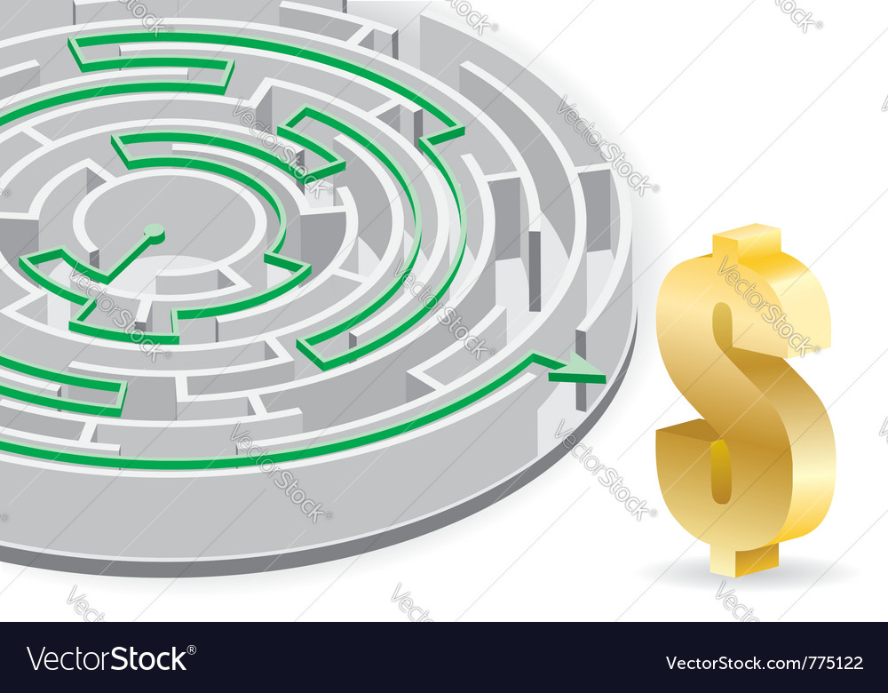 Business circular labyrinth vector | Price: 1 Credit (USD $1)