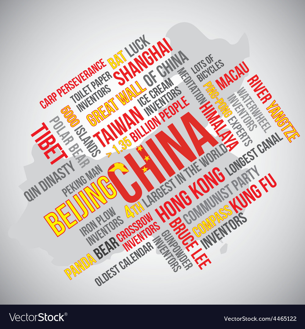 China word vector | Price: 1 Credit (USD $1)
