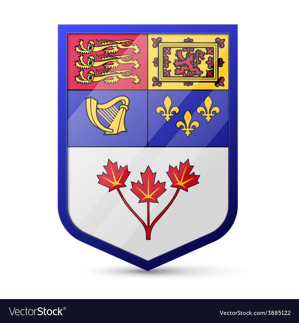 Coat of arms of canada vector | Price: 1 Credit (USD $1)