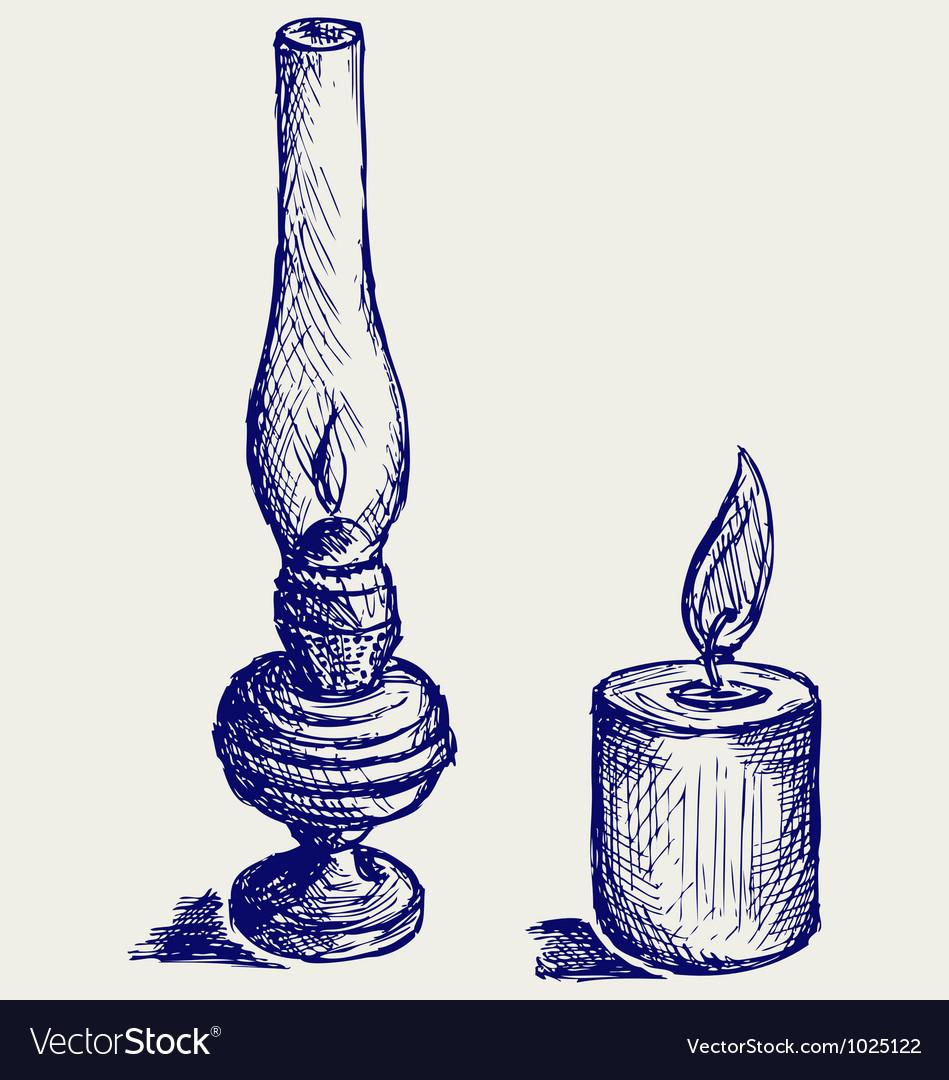 Kerosene lamp vector | Price: 1 Credit (USD $1)