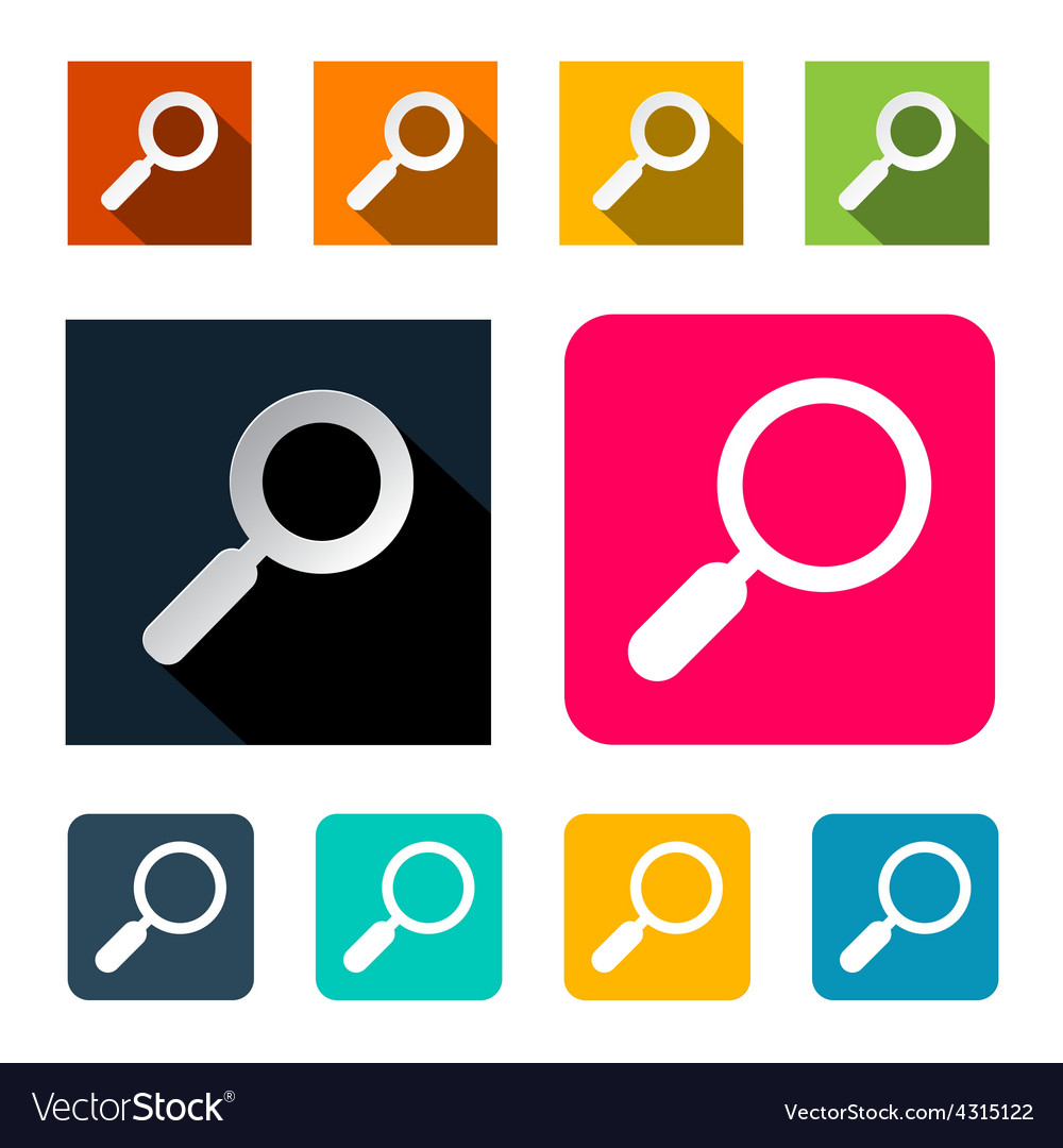 Magnifying glass search flat design vector   Price: 1 Credit (USD $1)