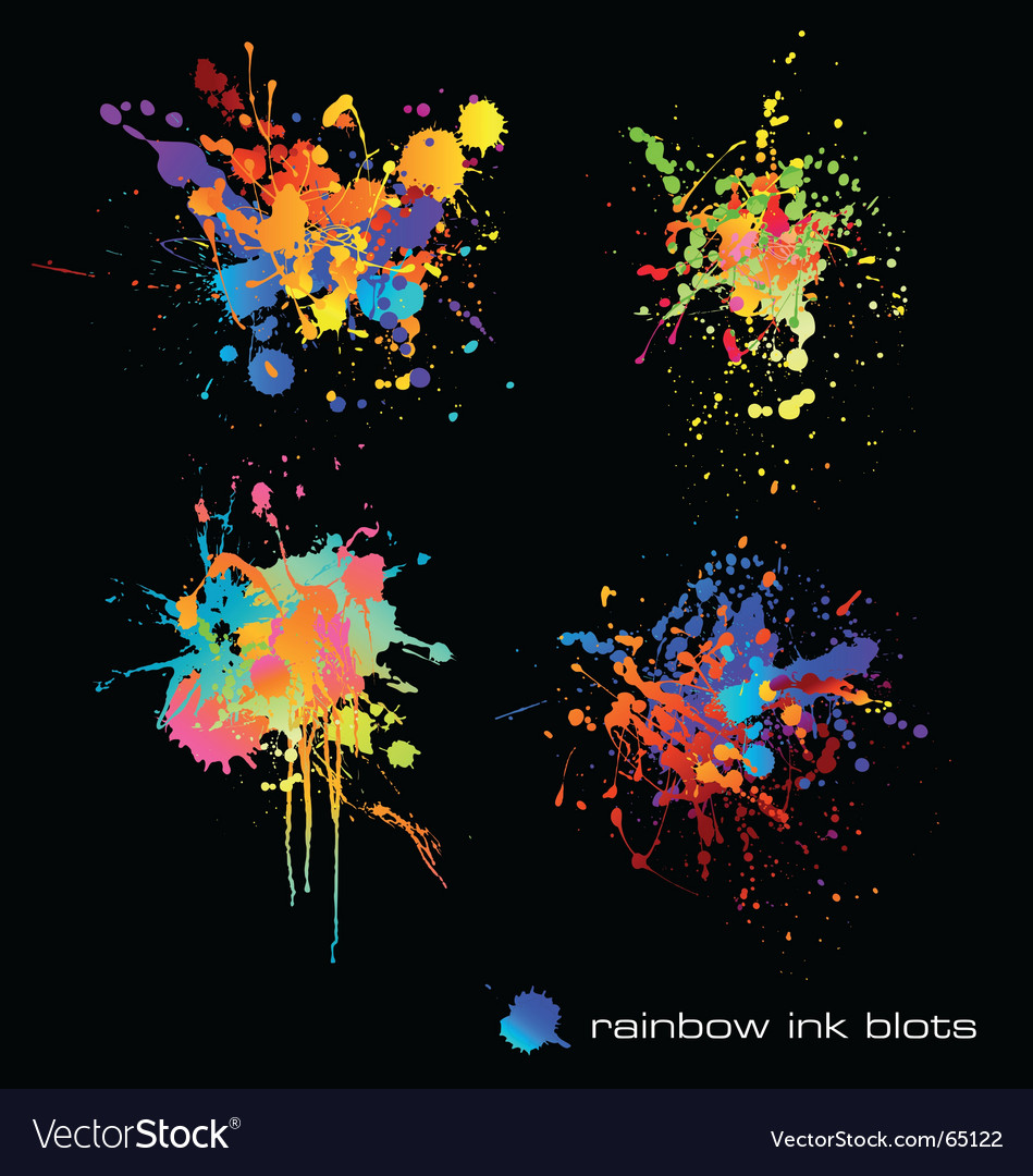 Rainbow ink blots vector | Price: 1 Credit (USD $1)