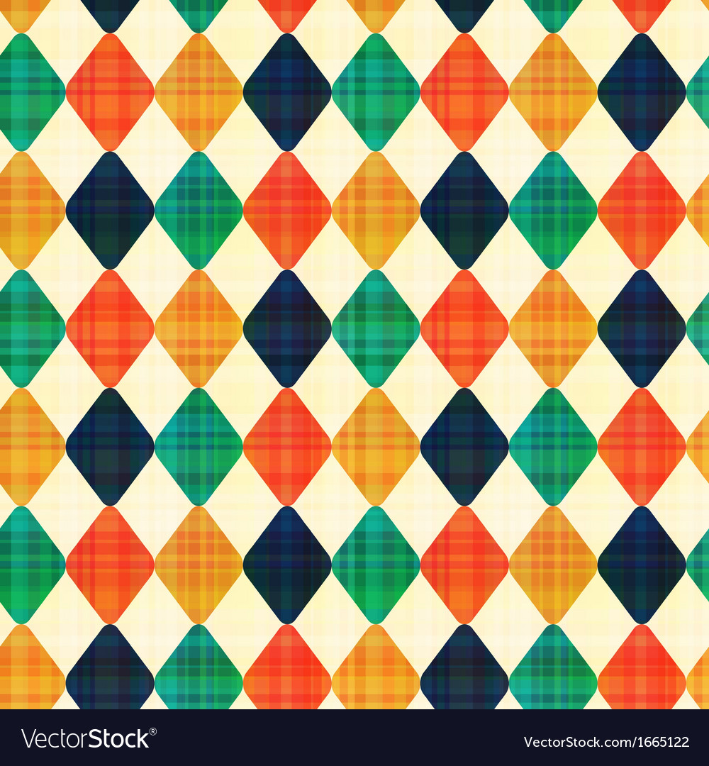 Seamless abstract geometric rhombus pattern vector | Price: 1 Credit (USD $1)