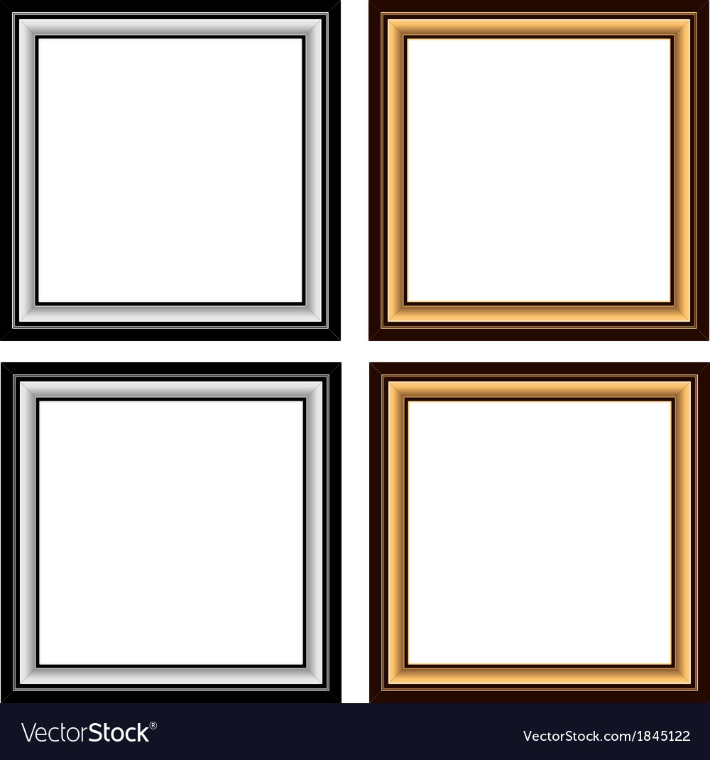 Wood frame set vector | Price: 1 Credit (USD $1)