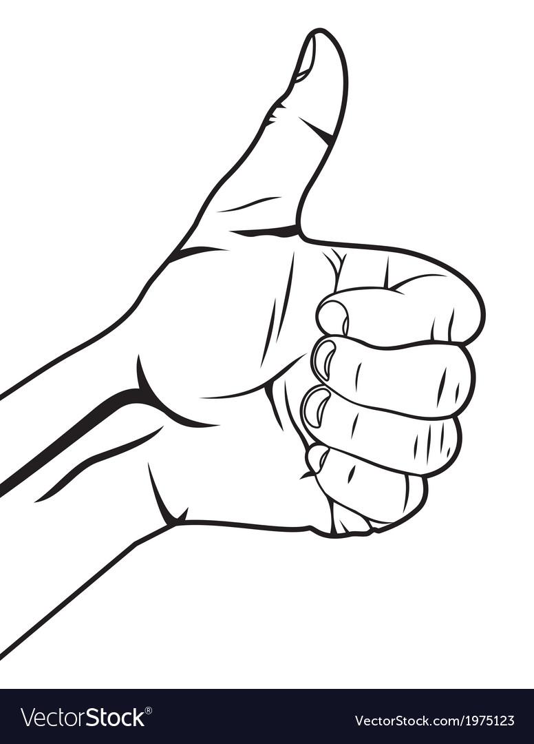Autostoperski prst vector   Price: 1 Credit (USD $1)