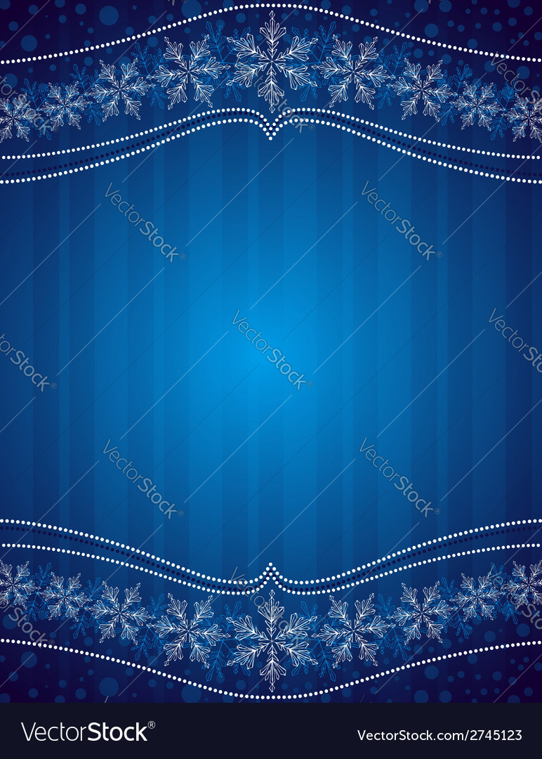 Blue christmas background with snowflakes vector | Price: 1 Credit (USD $1)