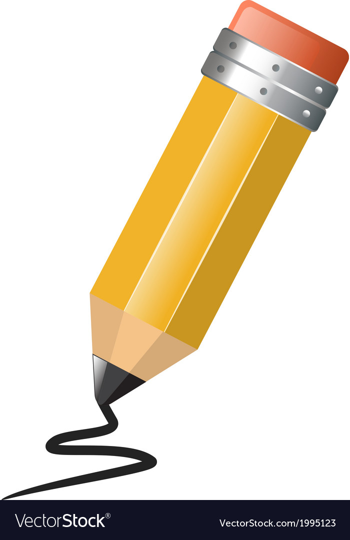 Bright simple pencil drawing on white background vector | Price: 1 Credit (USD $1)
