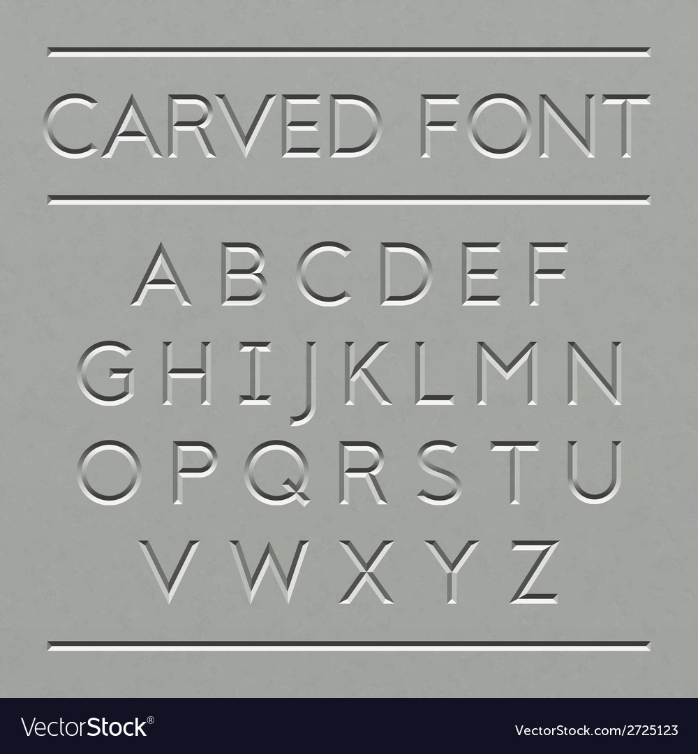 Carved font design vector | Price: 1 Credit (USD $1)