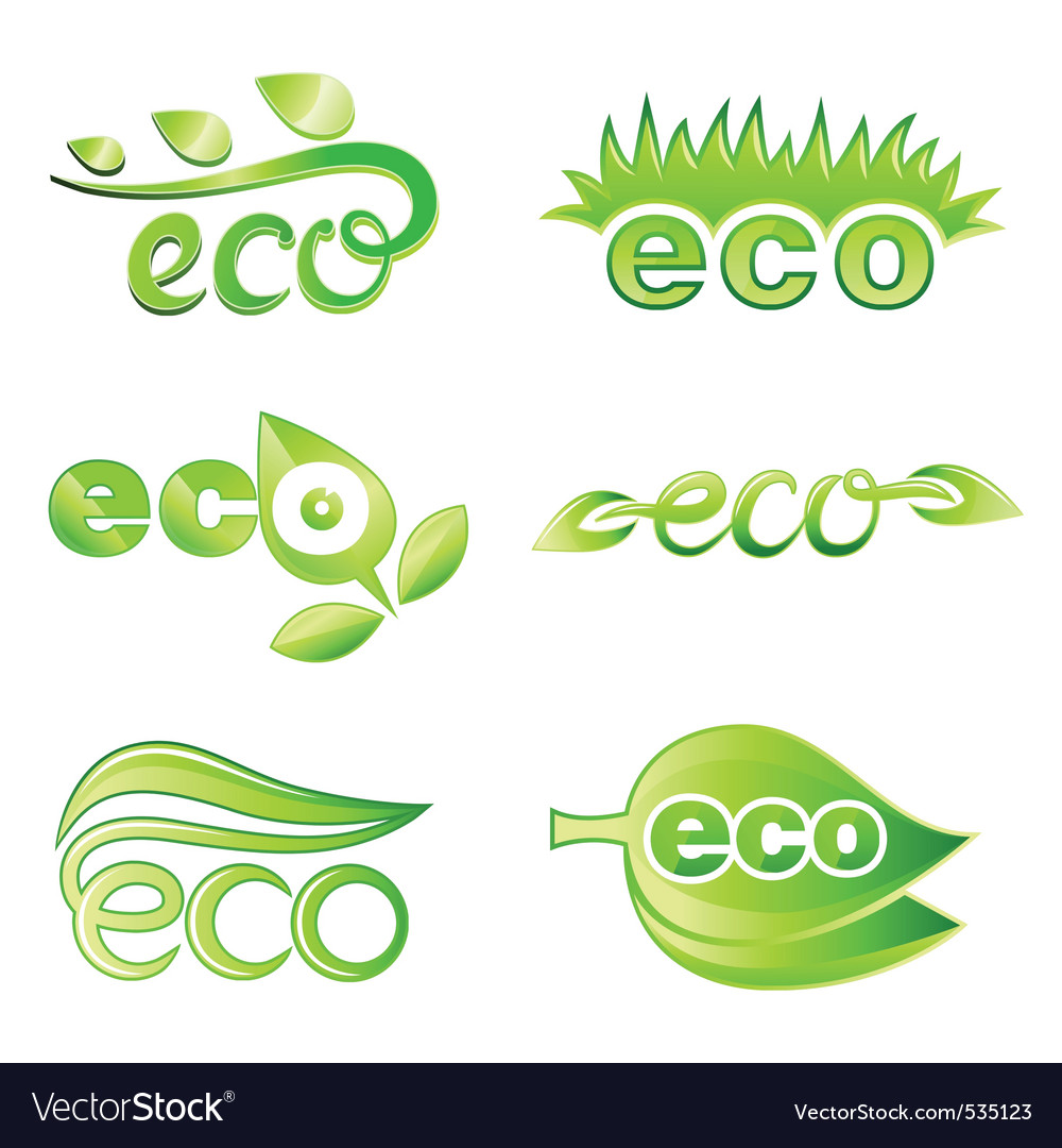 Ecology design elements vector | Price: 1 Credit (USD $1)