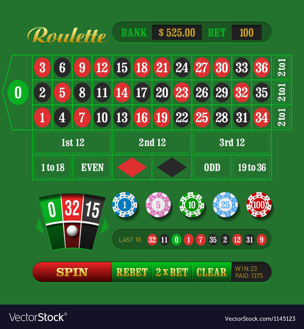 European roulette vector | Price: 3 Credit (USD $3)