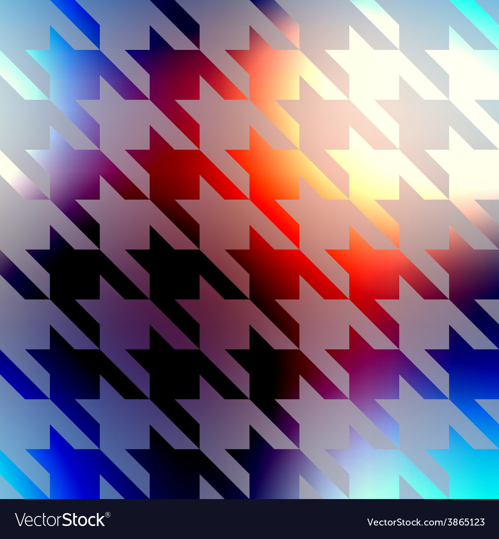 Geometric pattern of hounds-tooth on blurred vector | Price: 1 Credit (USD $1)