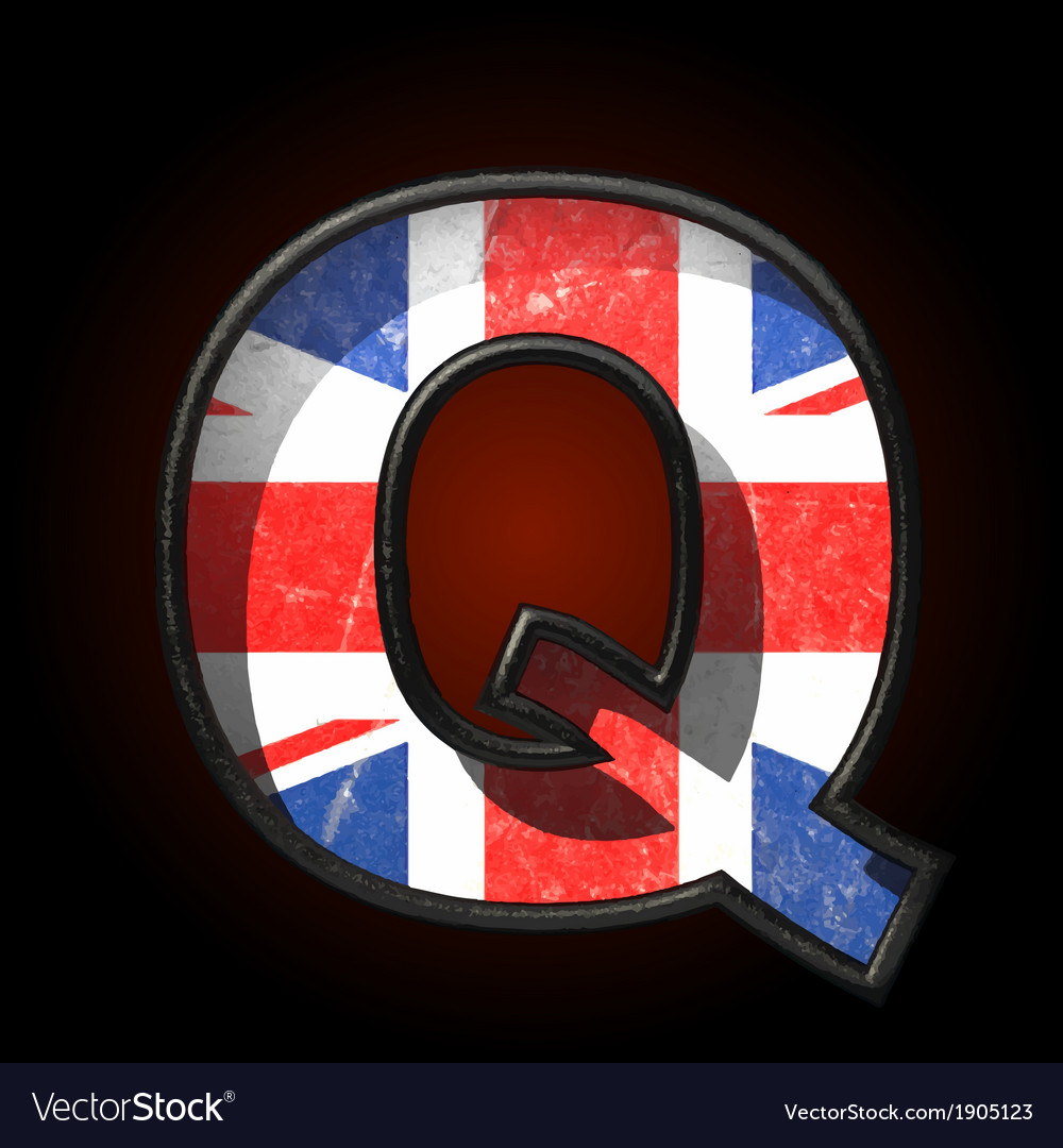 Great britain cutted figure q vector | Price: 1 Credit (USD $1)