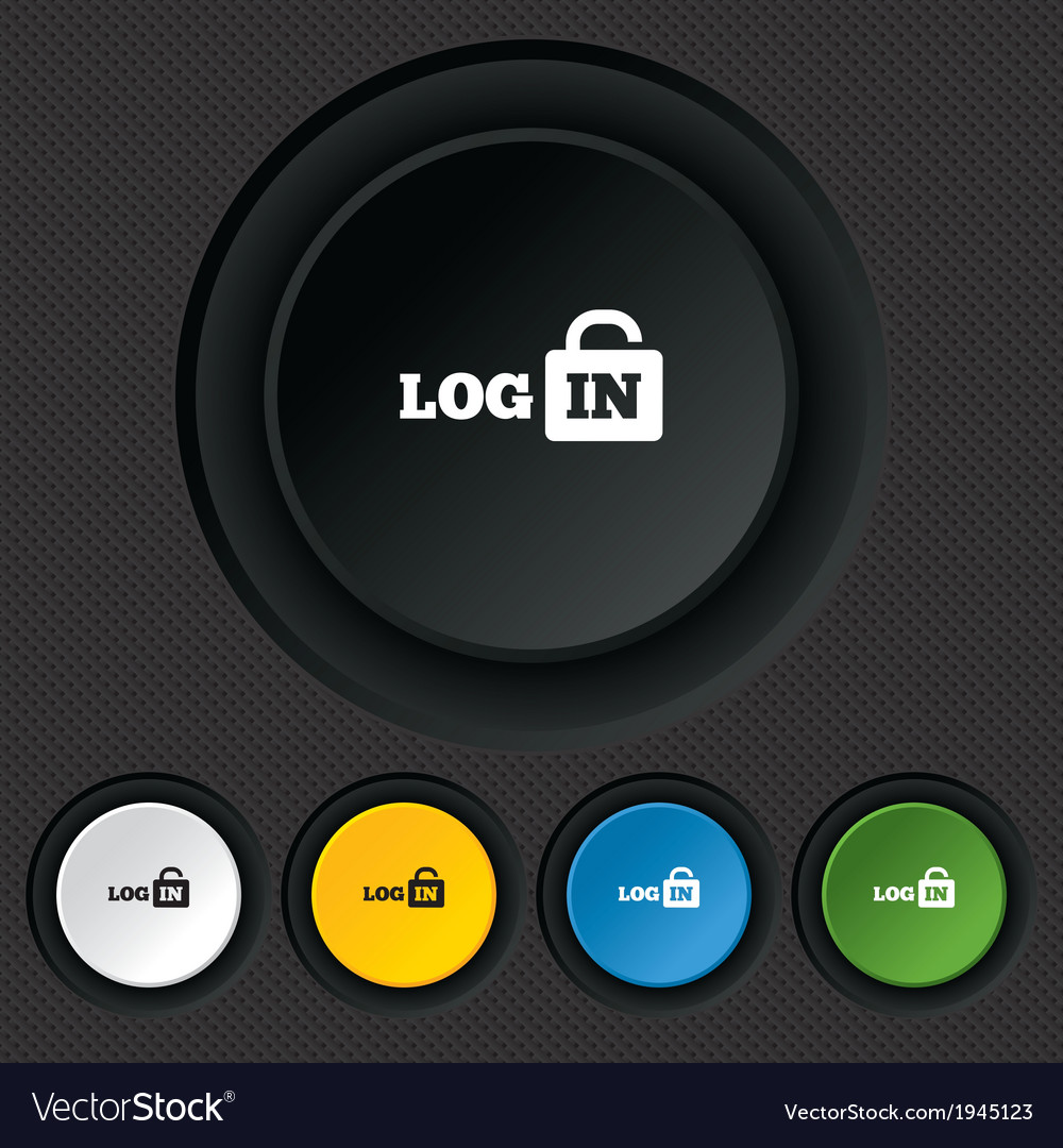 Login sign icon sign in symbol lock vector | Price: 1 Credit (USD $1)