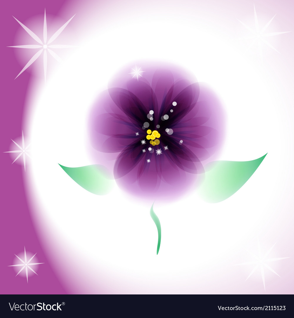 Pansy flower vector | Price: 1 Credit (USD $1)