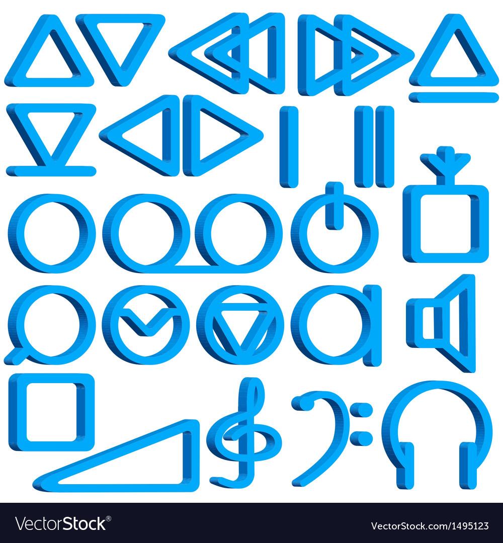 Recorder symbols set vector | Price: 1 Credit (USD $1)