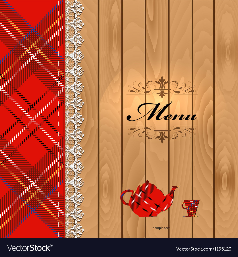 Scottish food menu design vector | Price: 1 Credit (USD $1)