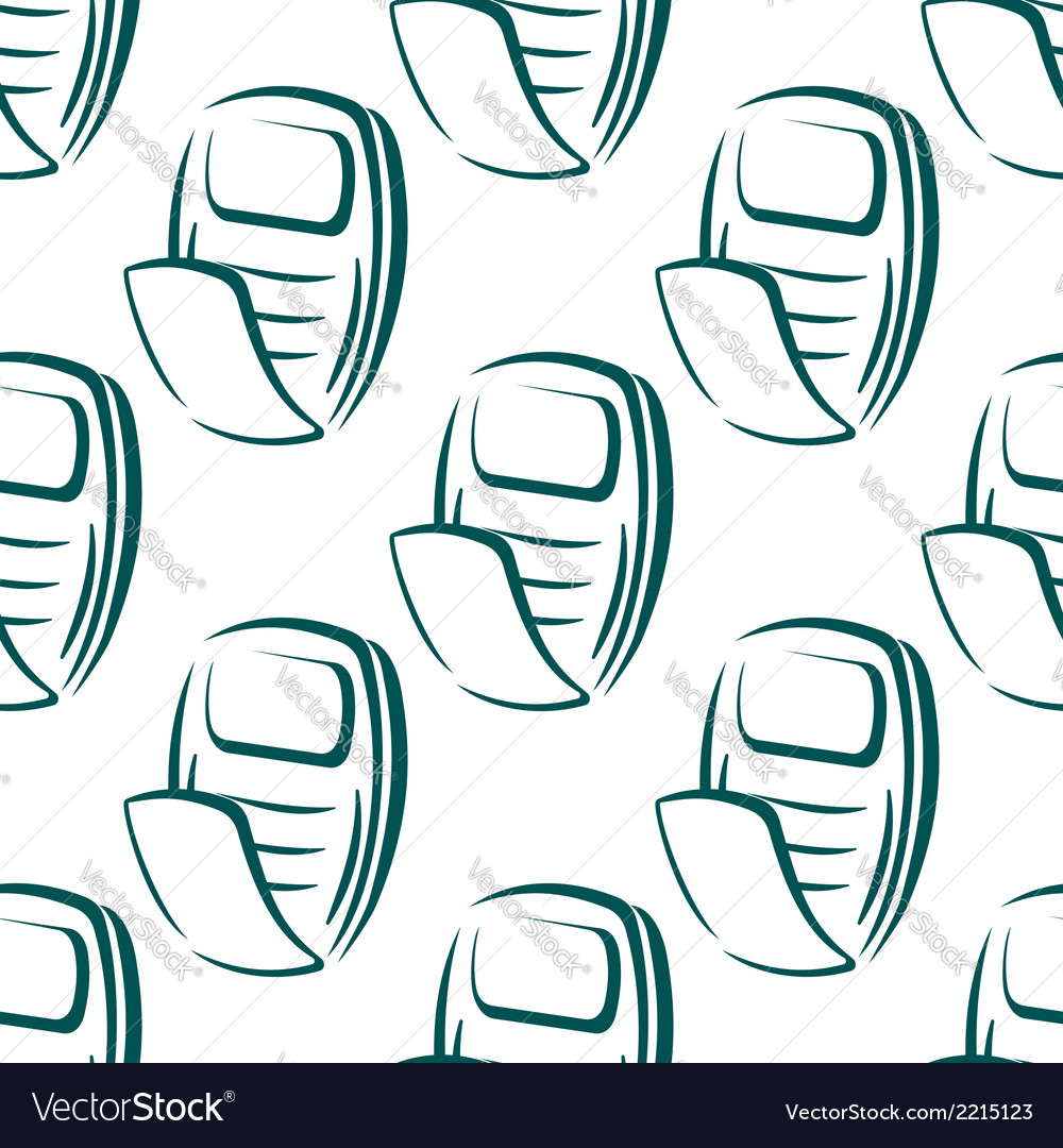 Seamless pattern of a retro mobile phone vector | Price: 1 Credit (USD $1)