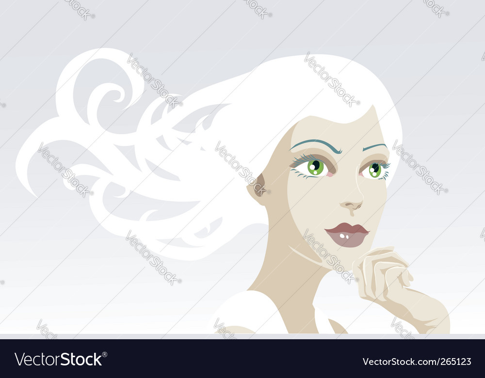Tranquil woman vector | Price: 3 Credit (USD $3)