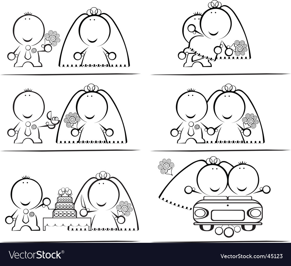 Wedding-day cartoon vector | Price: 1 Credit (USD $1)