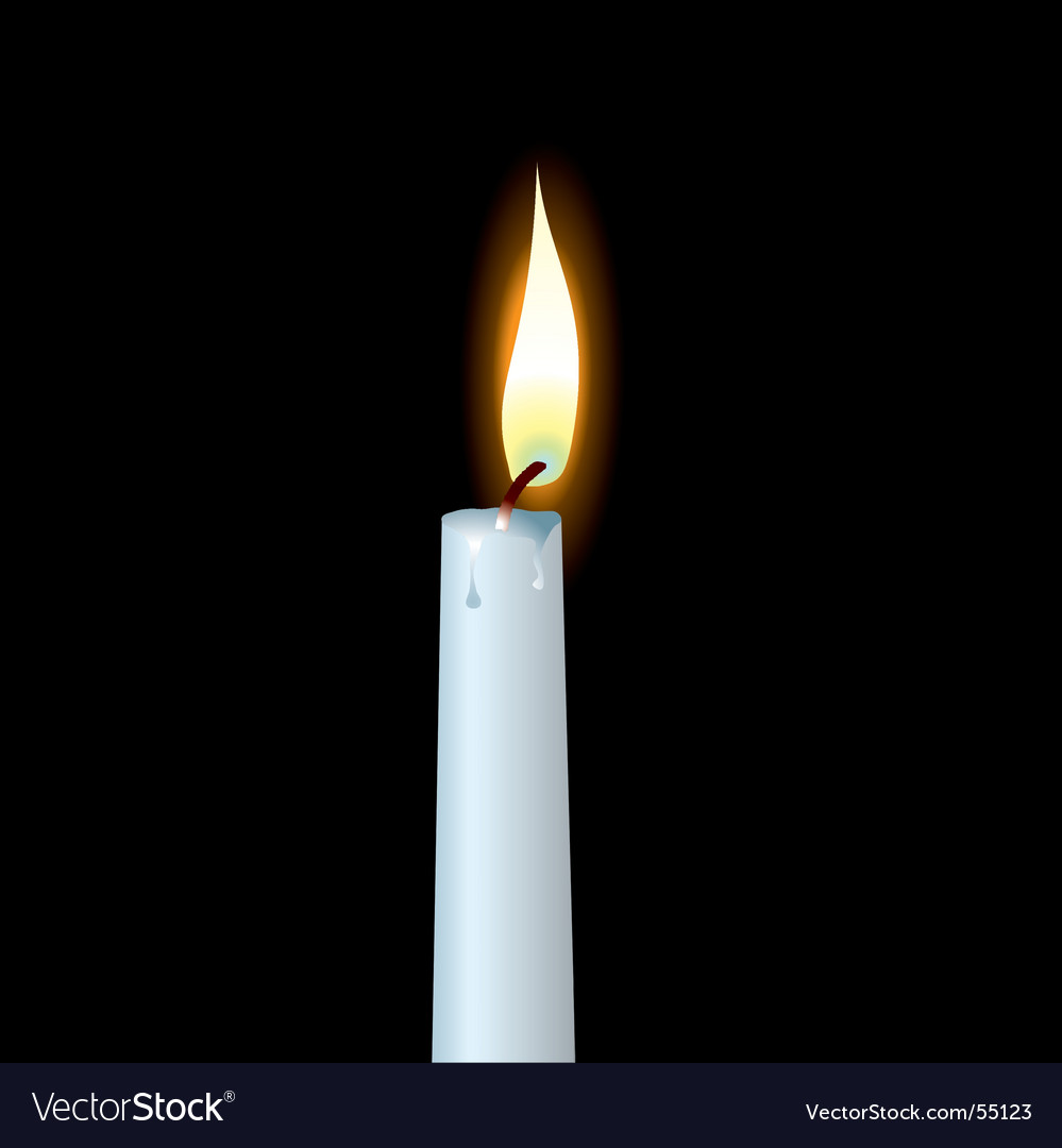 White candle vector   Price: 1 Credit (USD $1)
