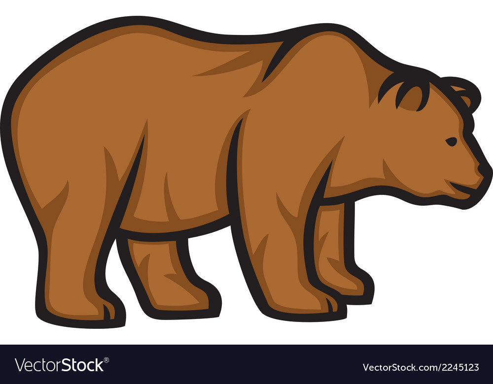 Wild bear vector | Price: 1 Credit (USD $1)