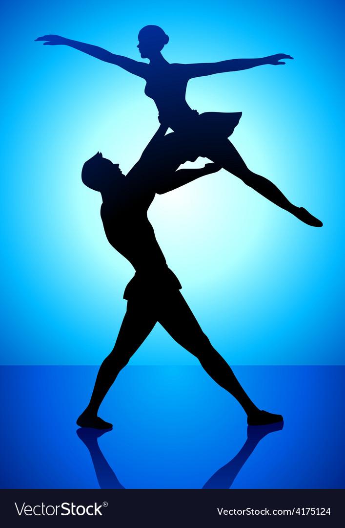 Ballet dancing vector | Price: 1 Credit (USD $1)